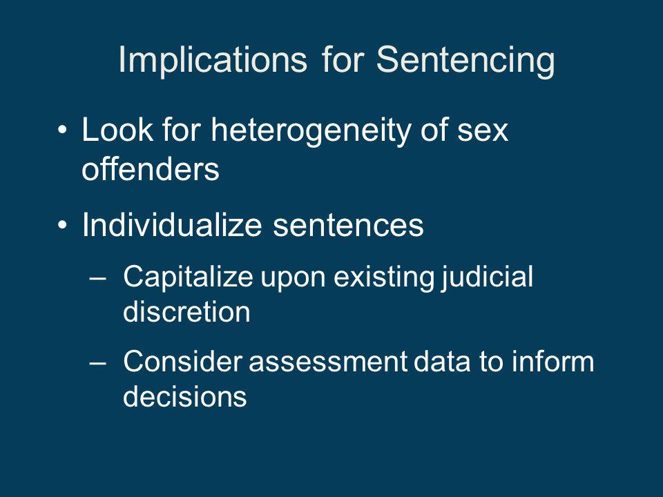 Implications for Sentencing