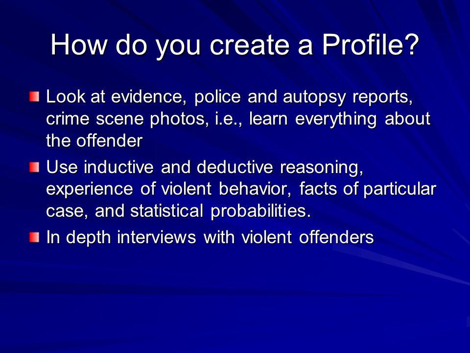 How do you create a Profile