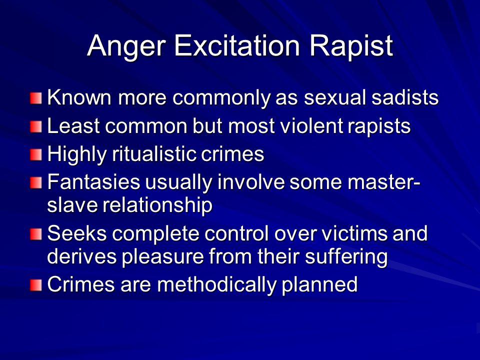 Anger Excitation Rapist