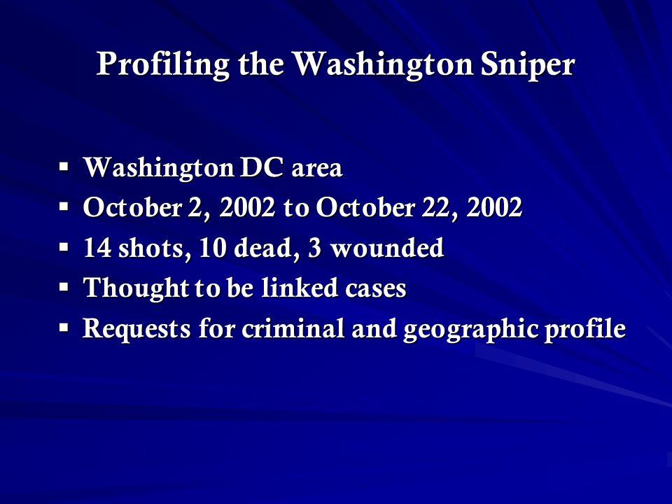 Profiling the Washington Sniper