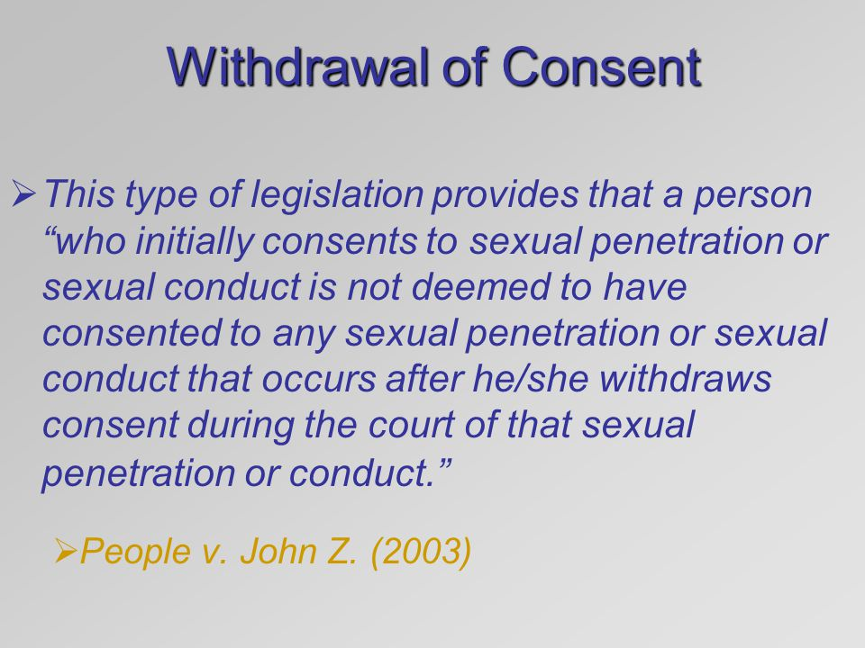 Withdrawal of Consent