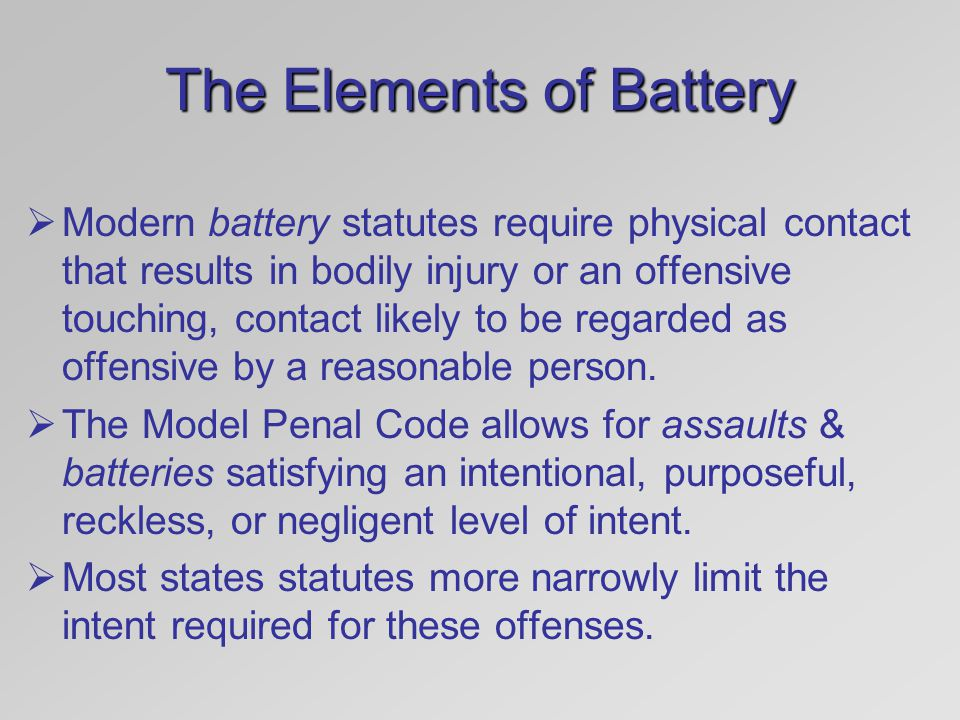 The Elements of Battery