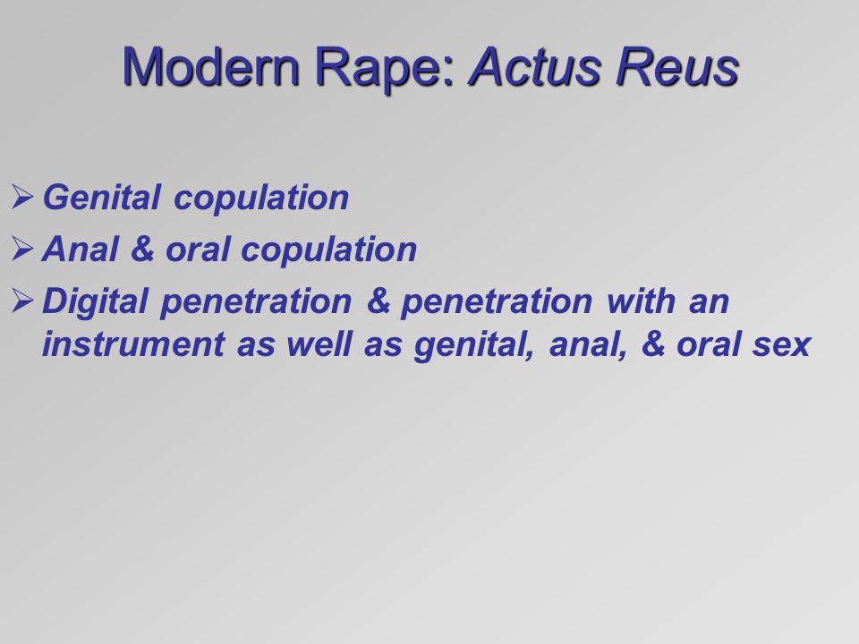 Modern Rape: Actus Reus