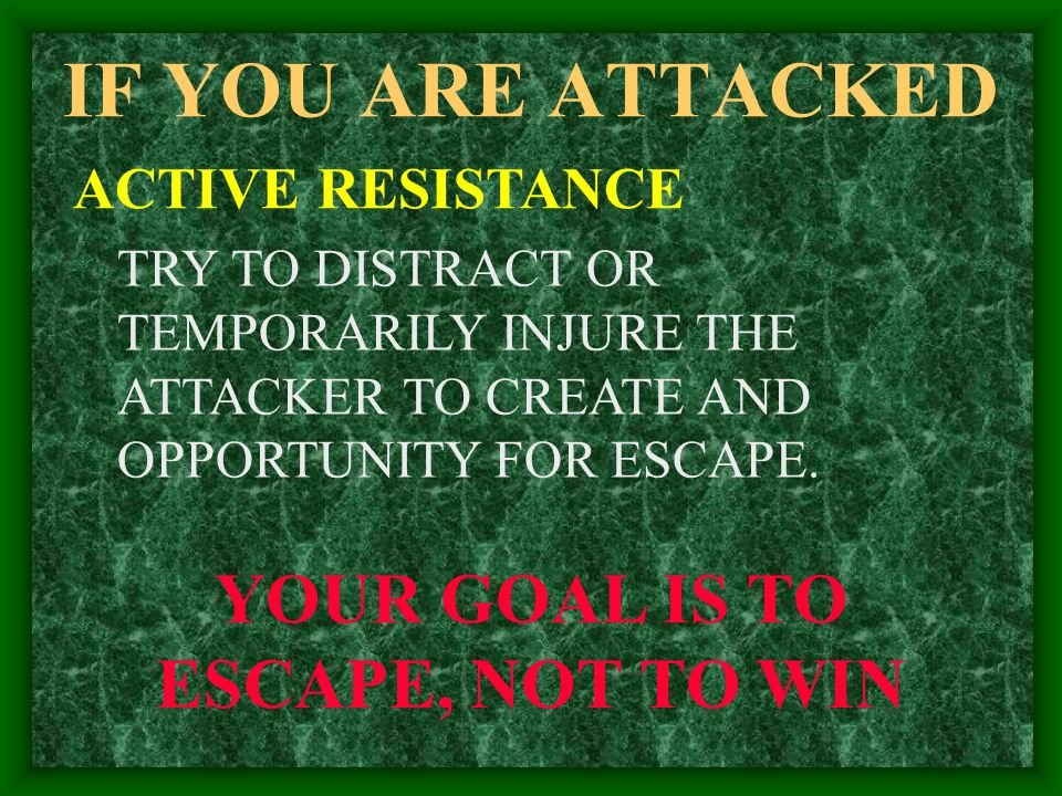YOUR GOAL IS TO ESCAPE, NOT TO WIN