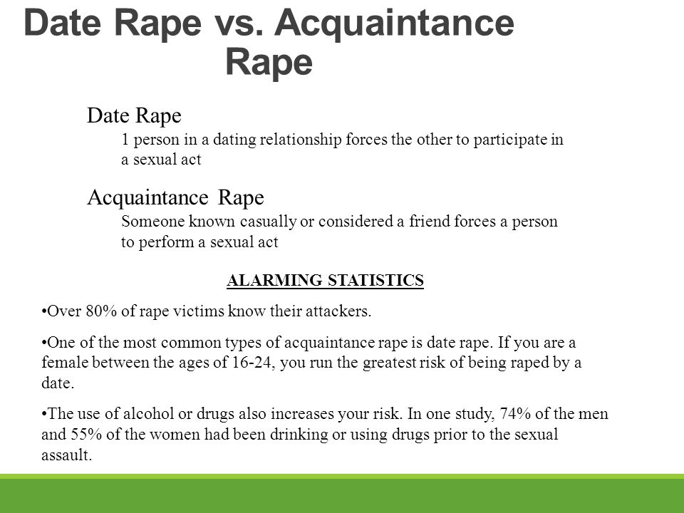 Date Rape vs. Acquaintance Rape