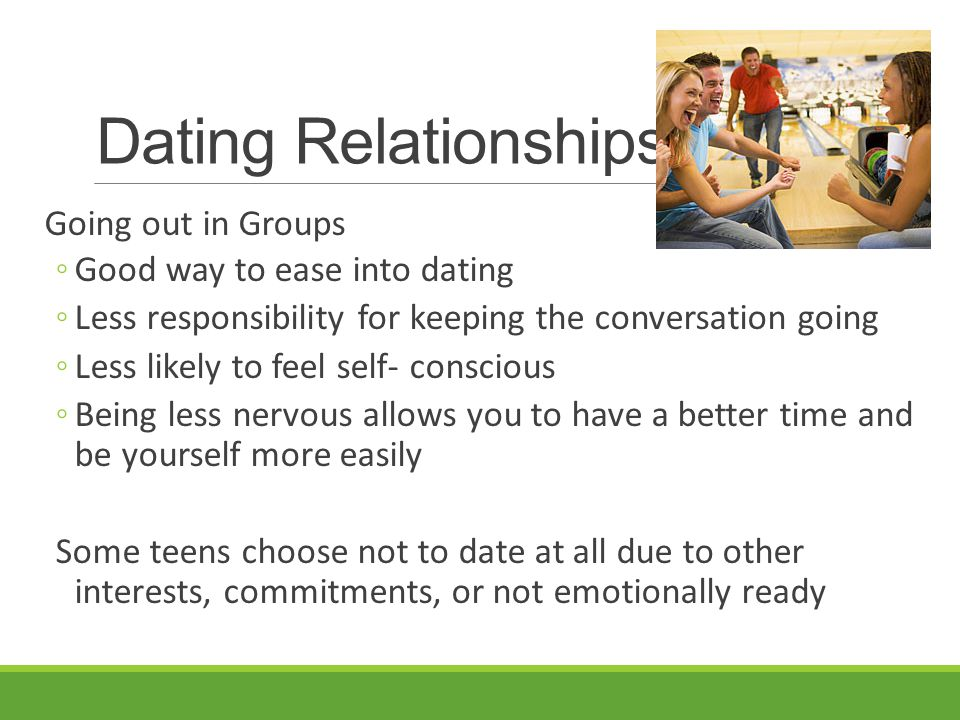 Dating but not going out