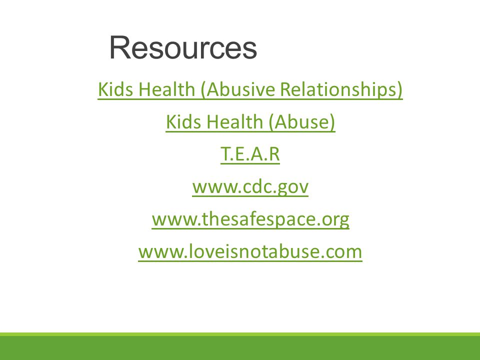 Kids Health (Abusive Relationships)