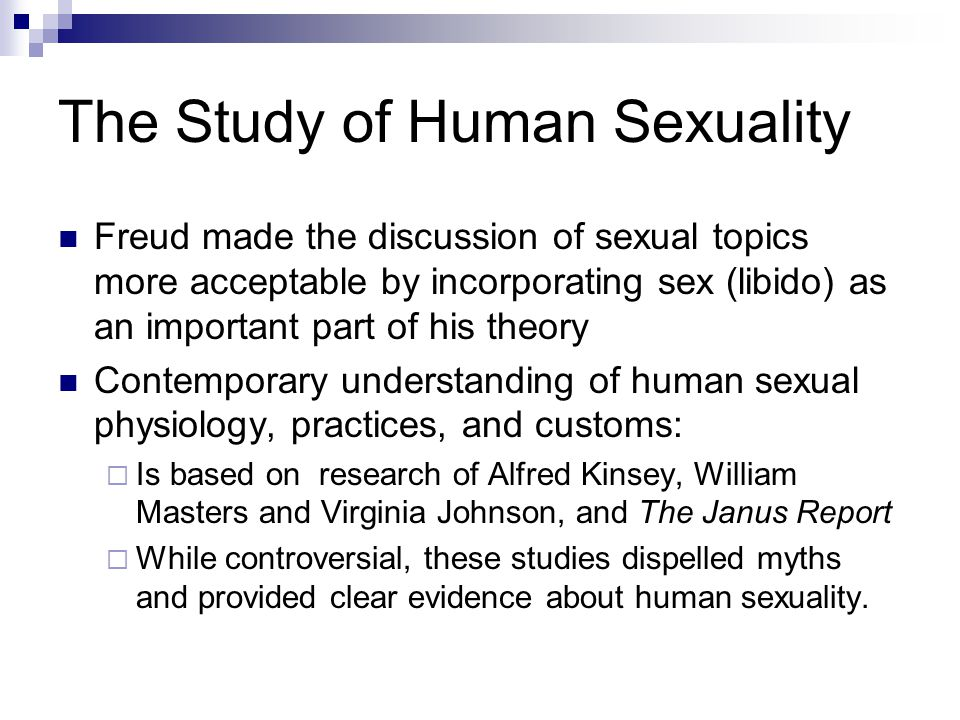 The Study of Human Sexuality