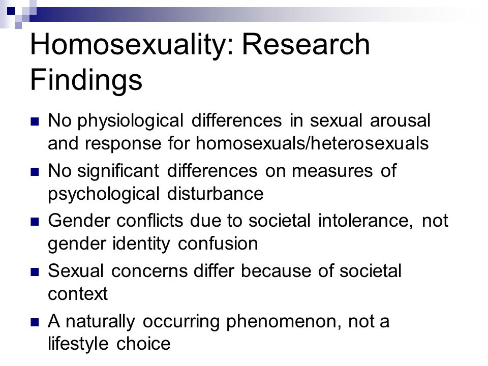Homosexuality: Research Findings