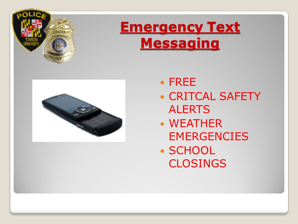 Emergency Text Messaging