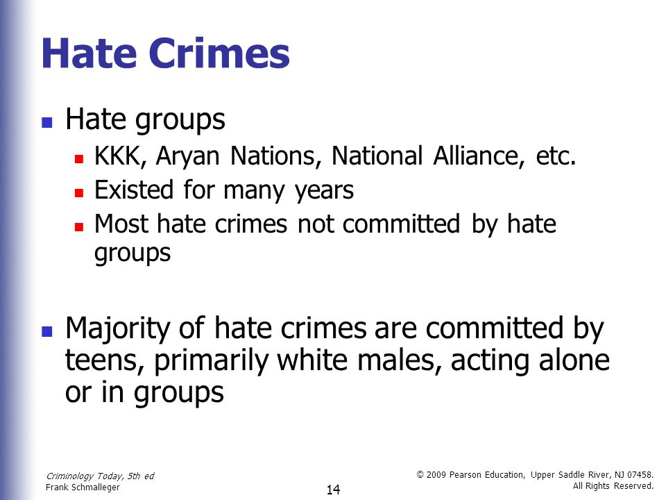 Hate Crimes Hate groups