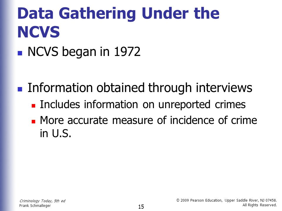 Data Gathering Under the NCVS