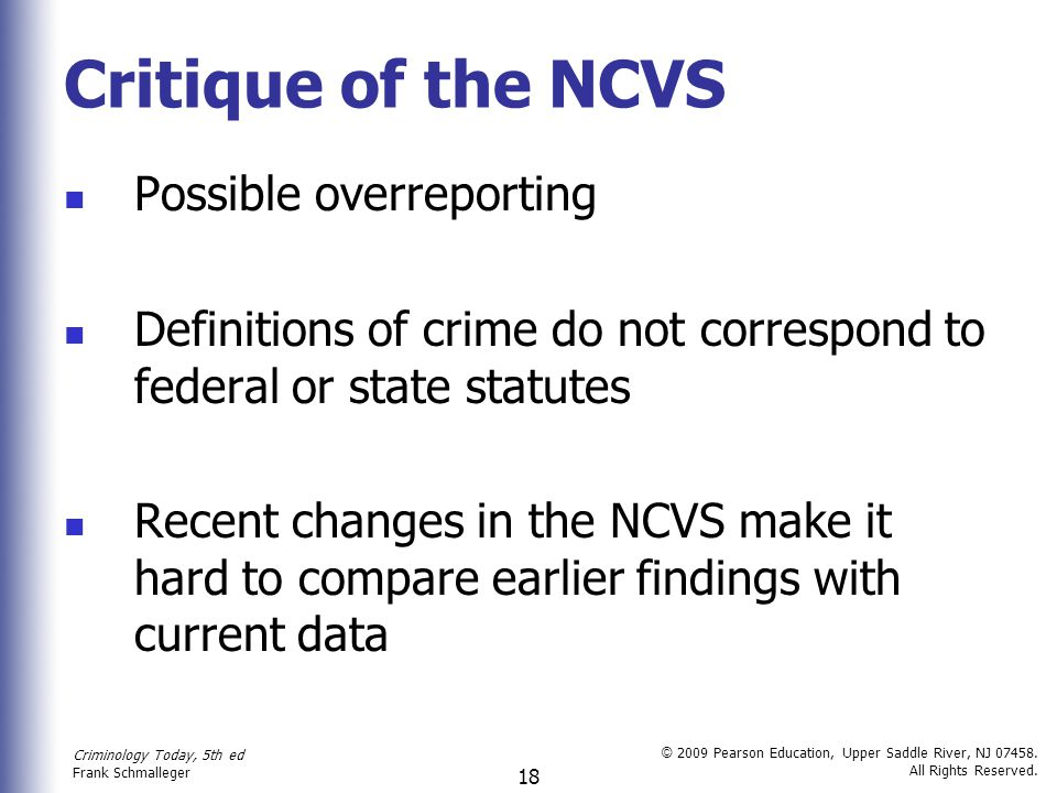 Critique of the NCVS Possible overreporting