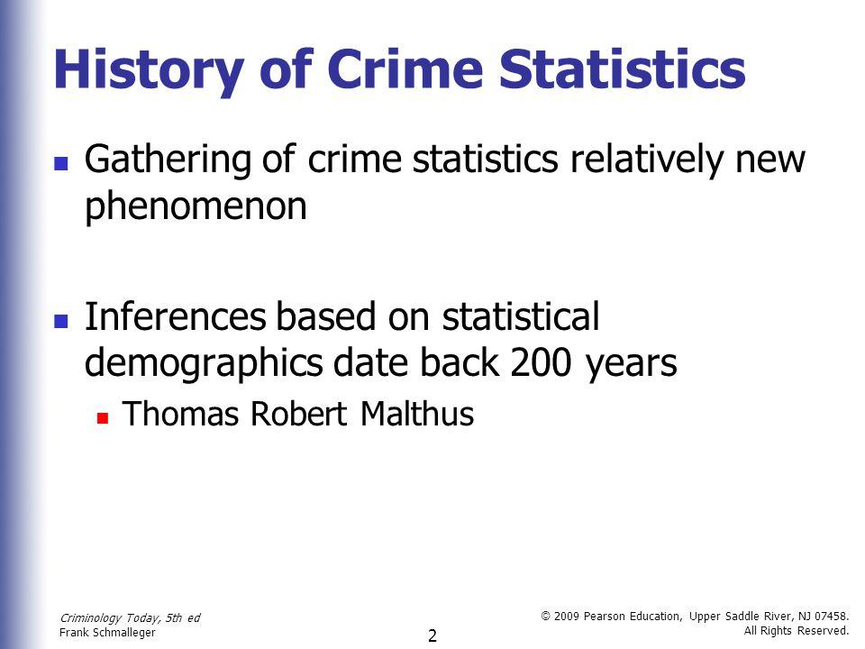 History of Crime Statistics