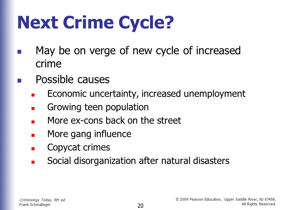 Next Crime Cycle May be on verge of new cycle of increased crime