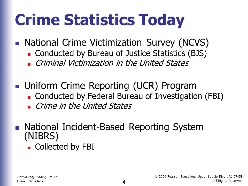 an introduction to the national crime survey in the united states Review all of the surveys and their  and victims of crime bureau of labor statistics  data for every county in the united states national center for education.