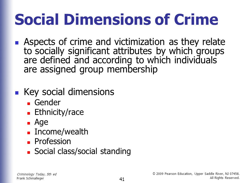 Social Dimensions of Crime