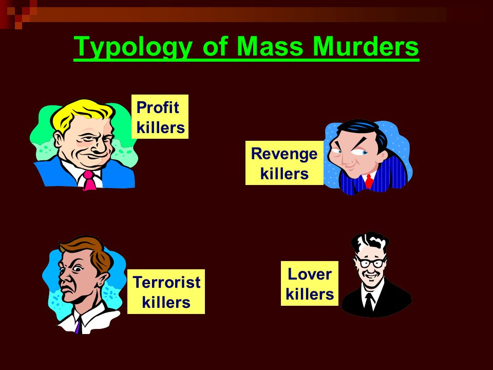 Typology of Mass Murders