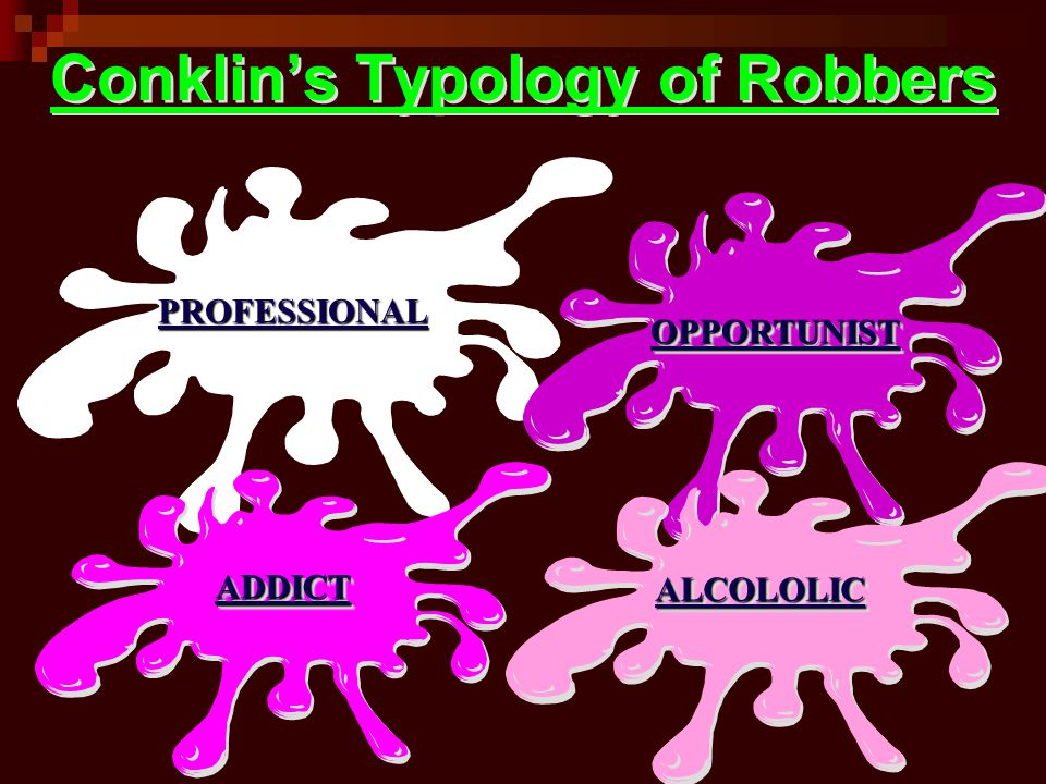 Conklin's Typology of Robbers