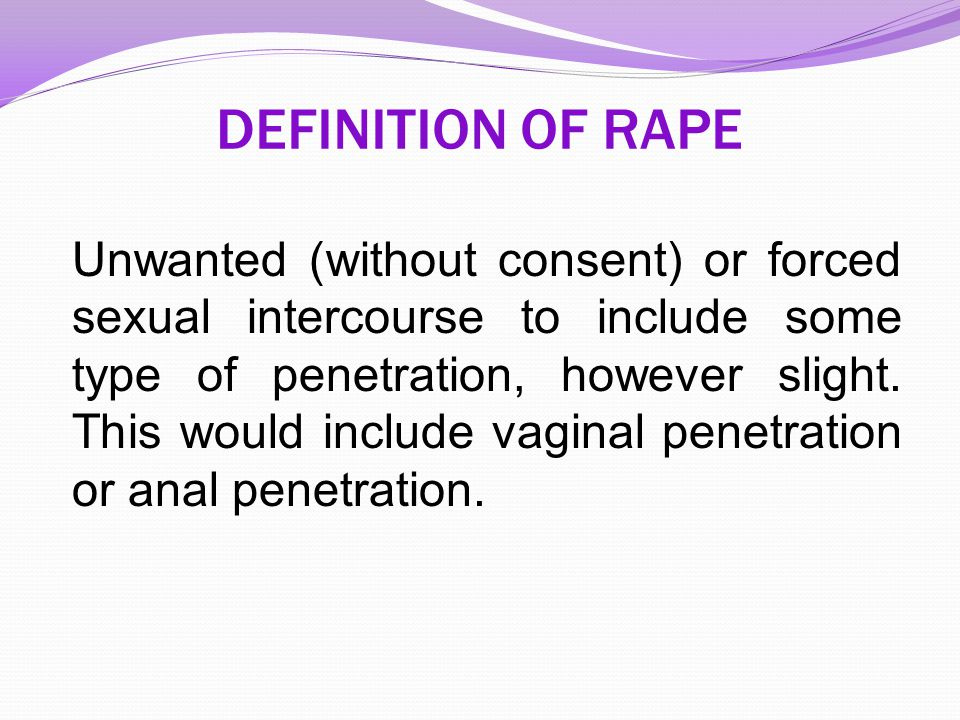 DEFINITION OF RAPE