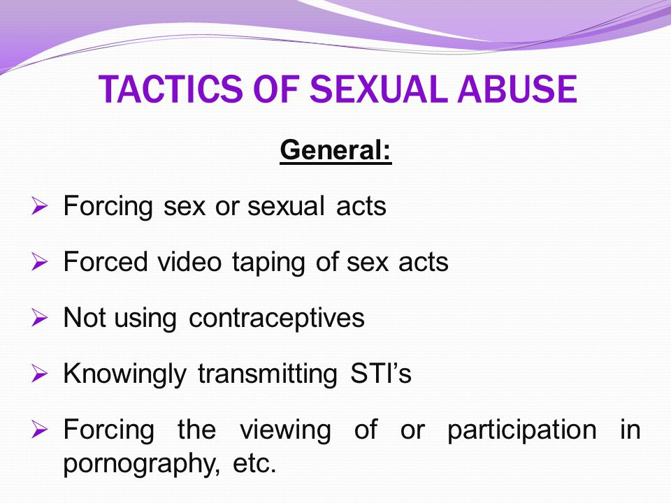 TACTICS OF SEXUAL ABUSE