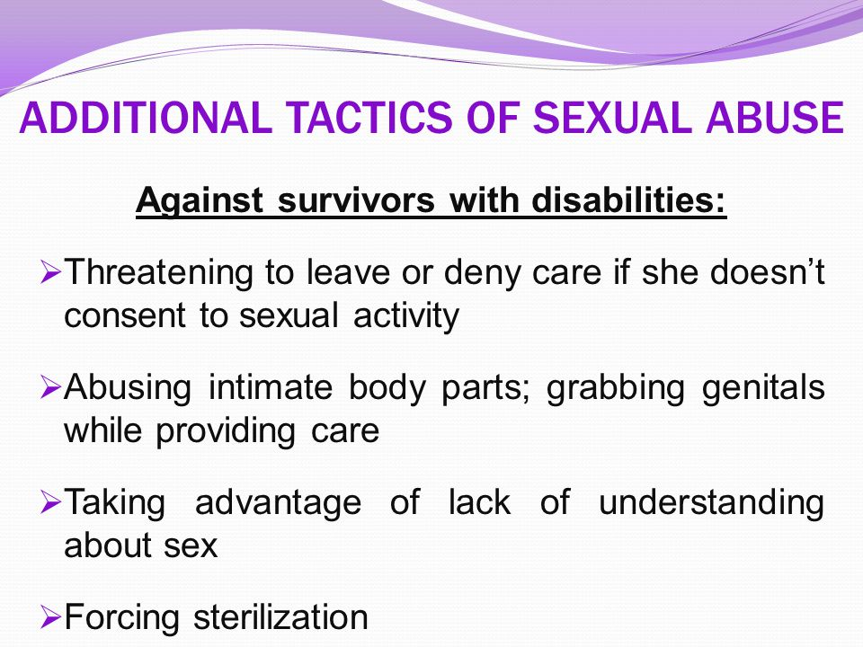 ADDITIONAL TACTICS OF SEXUAL ABUSE