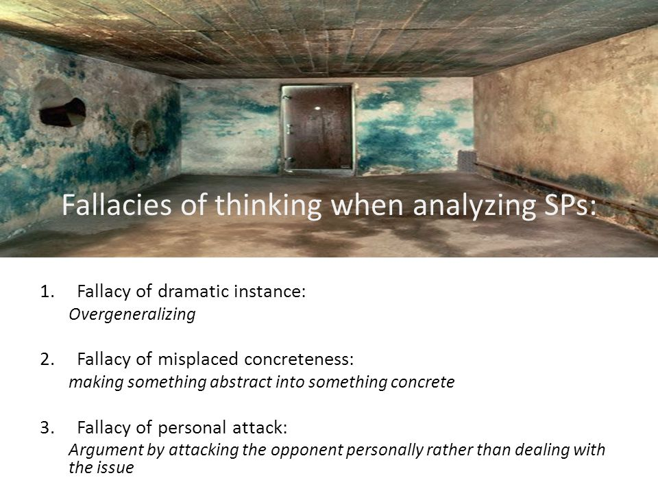 9 fallacies of thinking when analyzing social problems:
