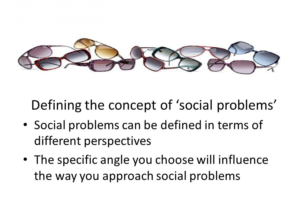Defining the concept of Social problems