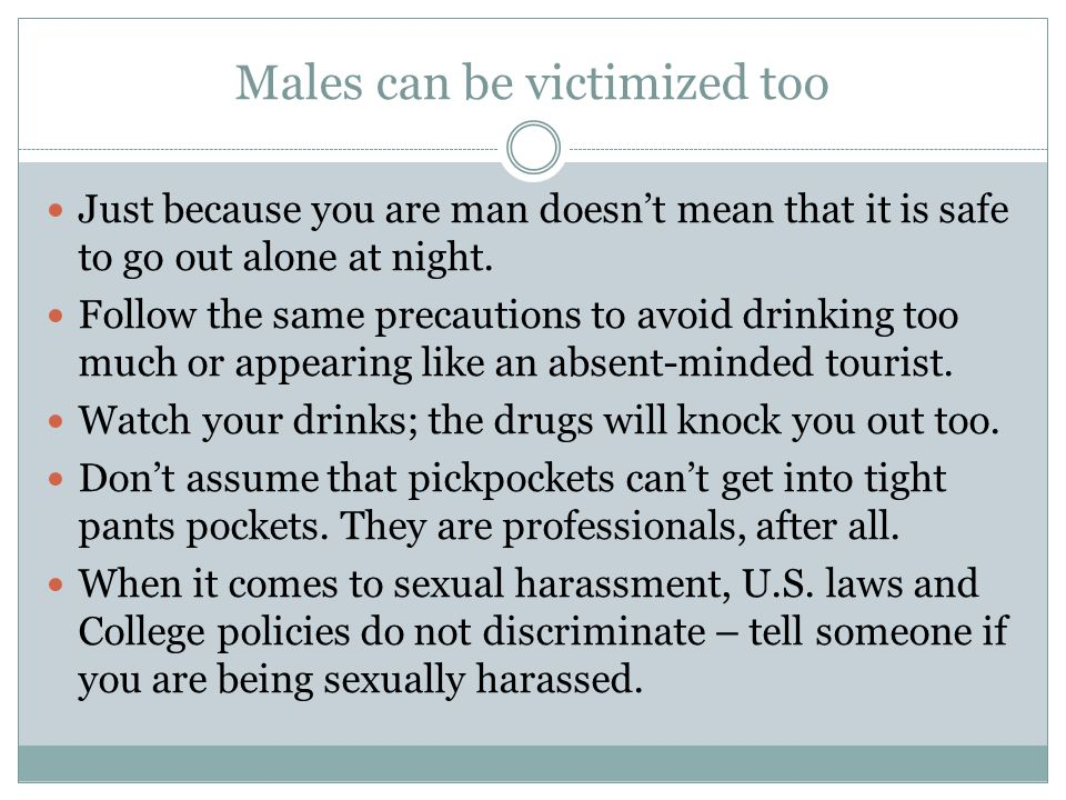 Males can be victimized too
