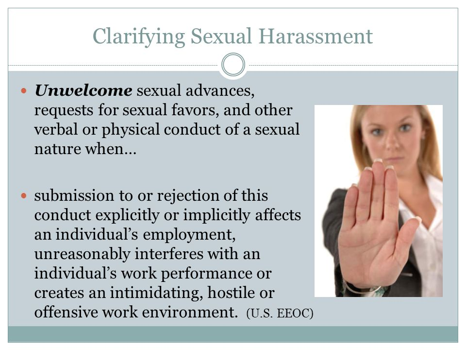 Clarifying Sexual Harassment