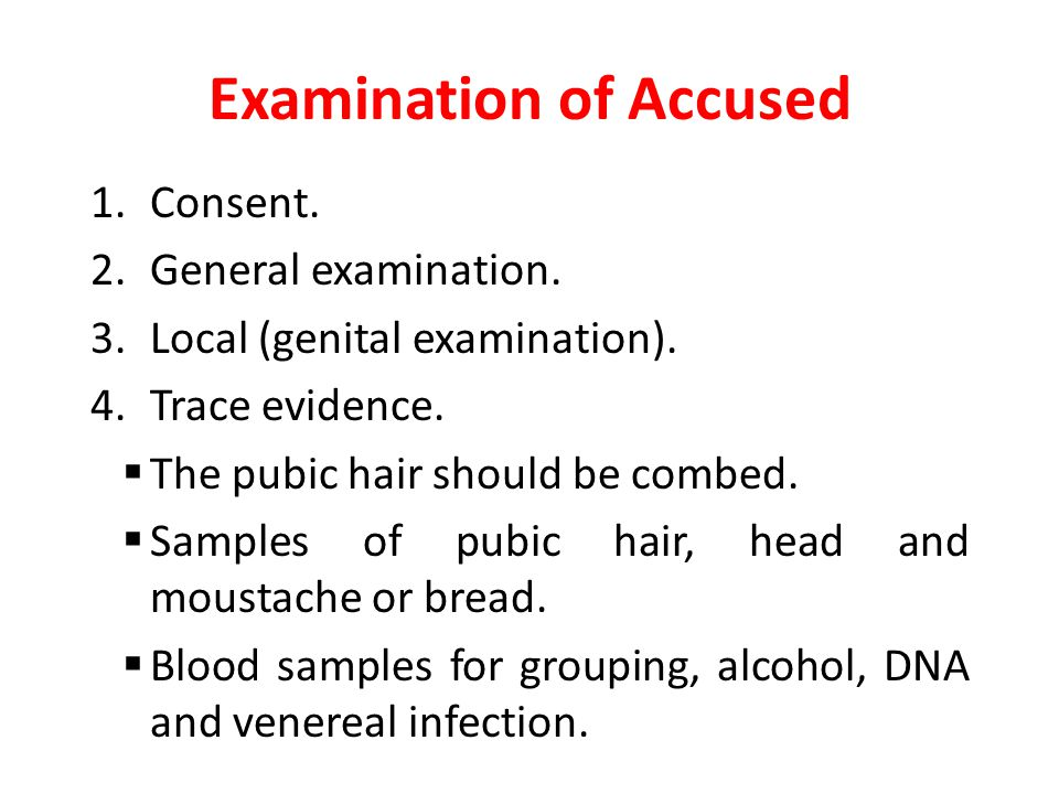 Examination of Accused