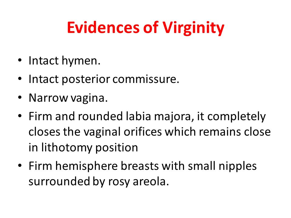 Evidences of Virginity