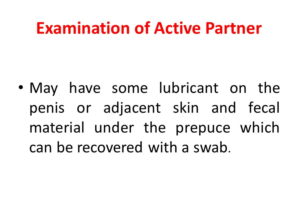 Examination of Active Partner