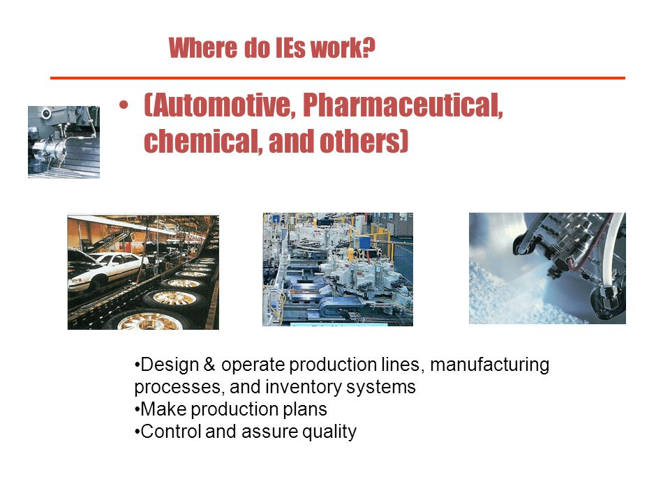 (Automotive, Pharmaceutical, chemical, and others)