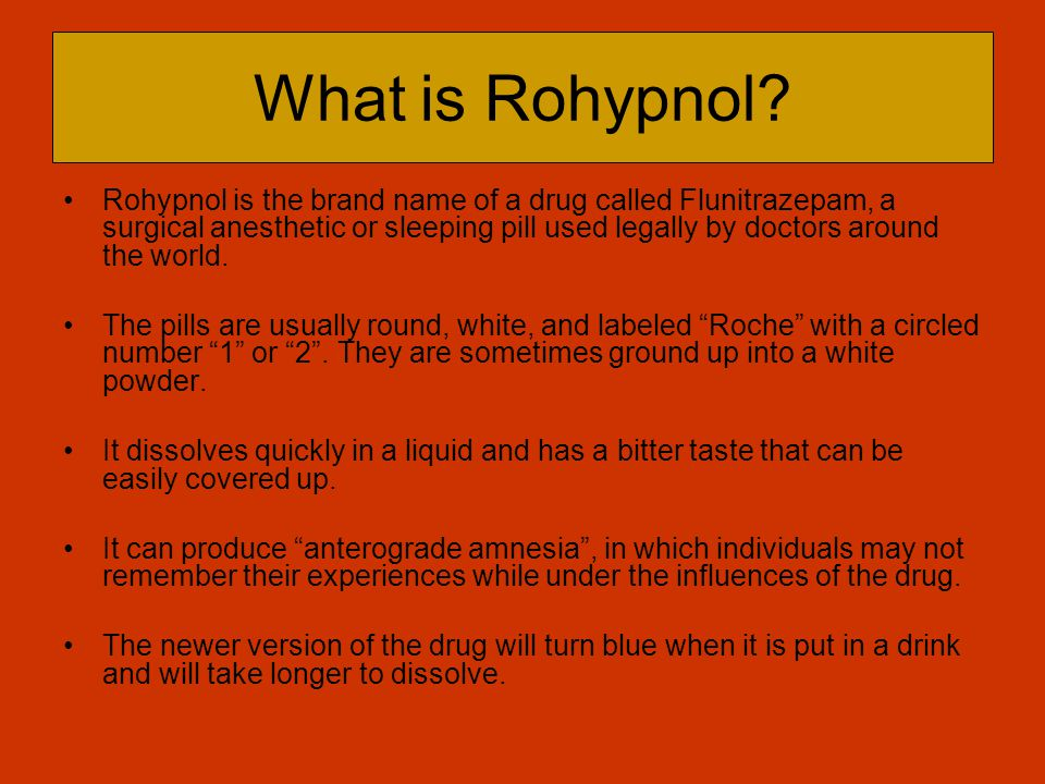 What is Rohypnol