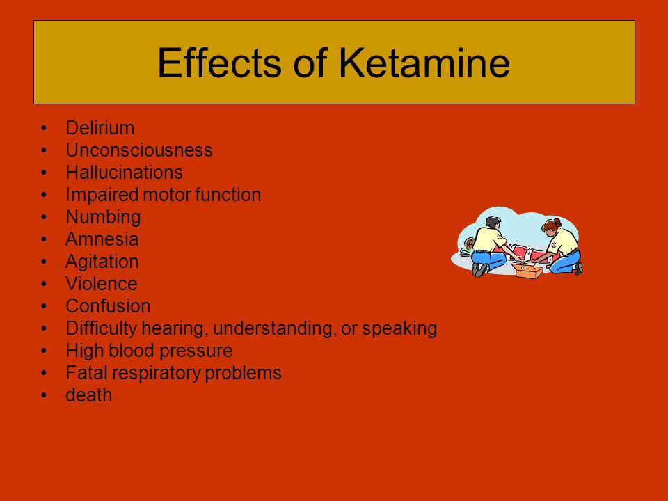 Effects of Ketamine Delirium Unconsciousness Hallucinations