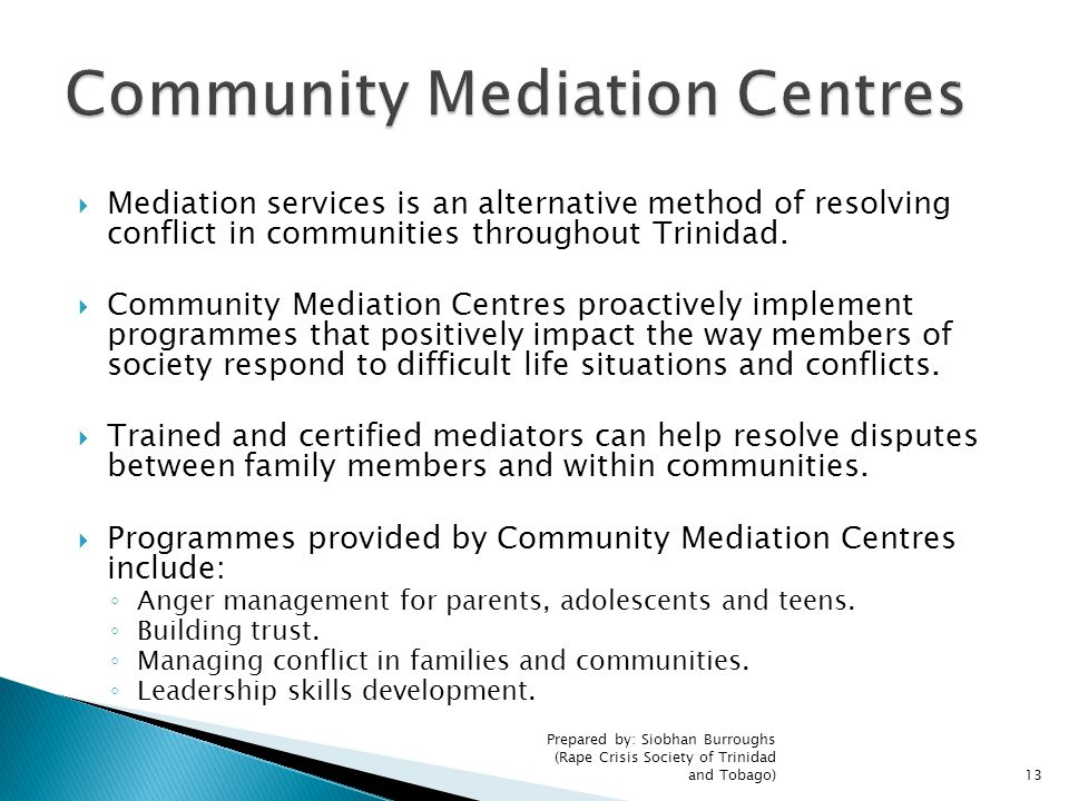 Community Mediation Centres