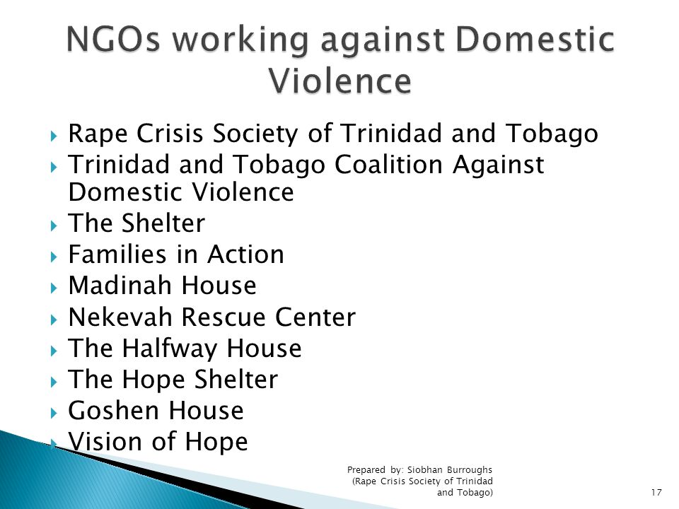 NGOs working against Domestic Violence