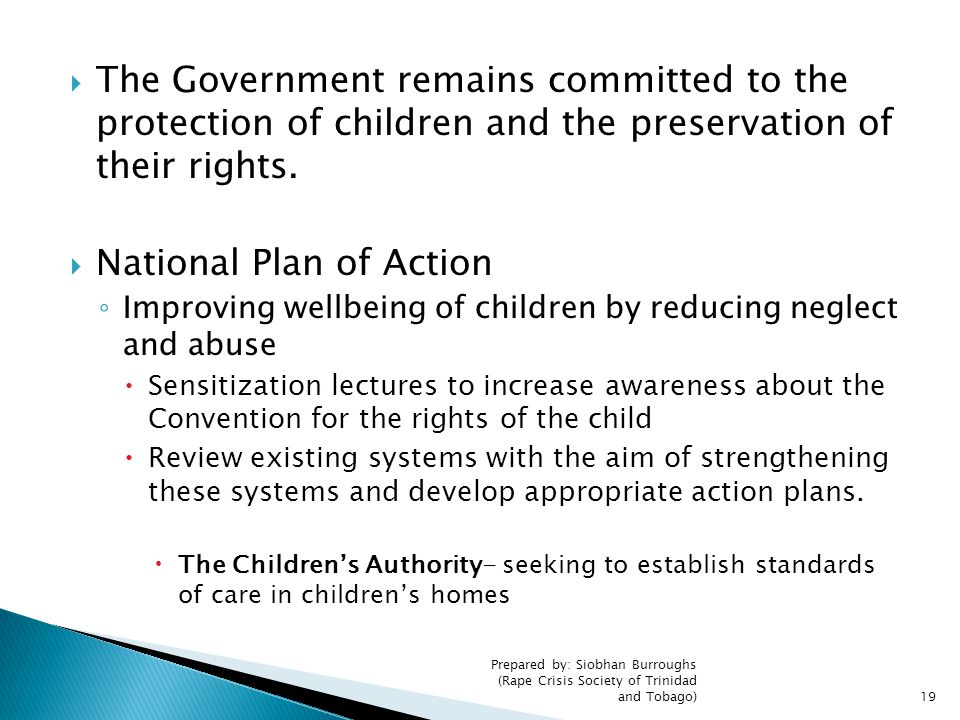 National Plan of Action