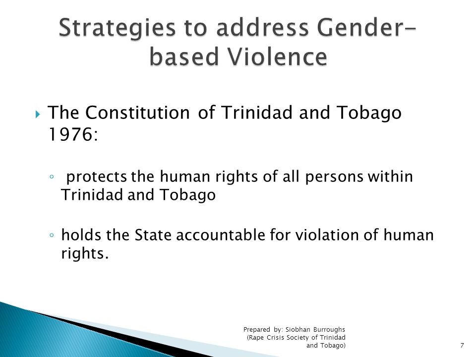 Strategies to address Gender-based Violence