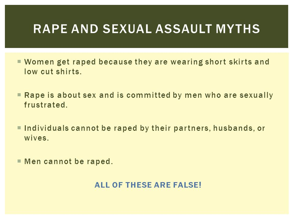 Rape and sexual assault myths