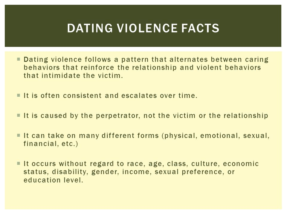 Dating violence facts