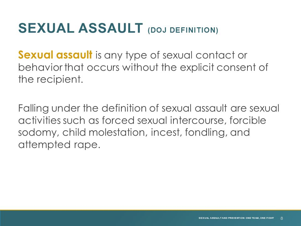 Sexual assault (DOJ definition)