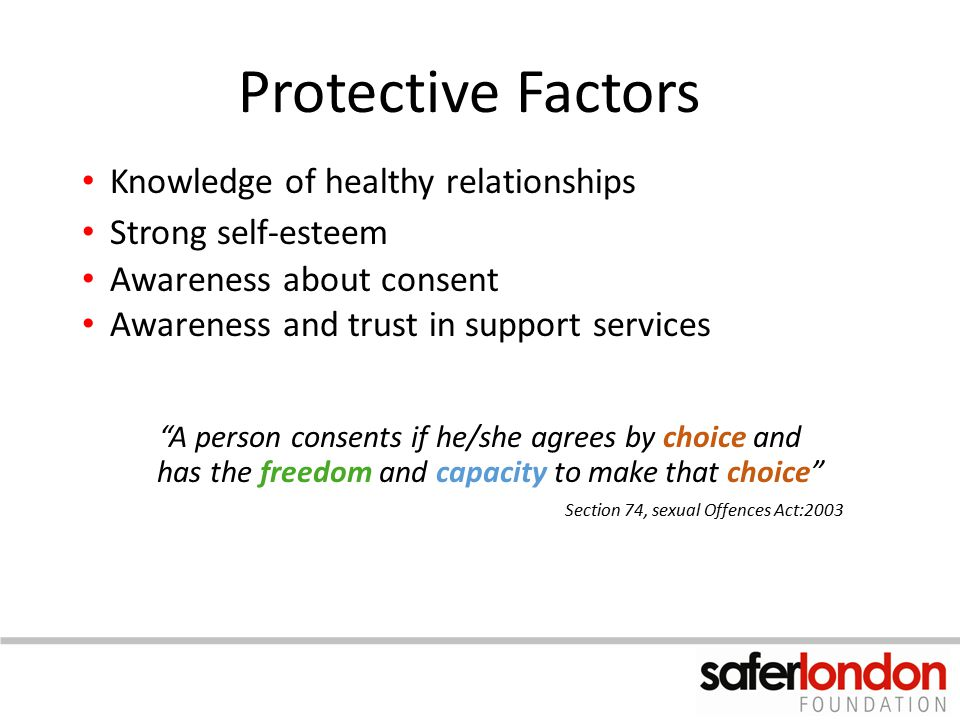 Protective Factors Knowledge of healthy relationships