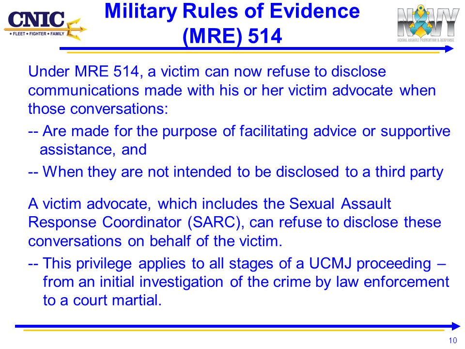 Military Rules of Evidence (MRE) 514