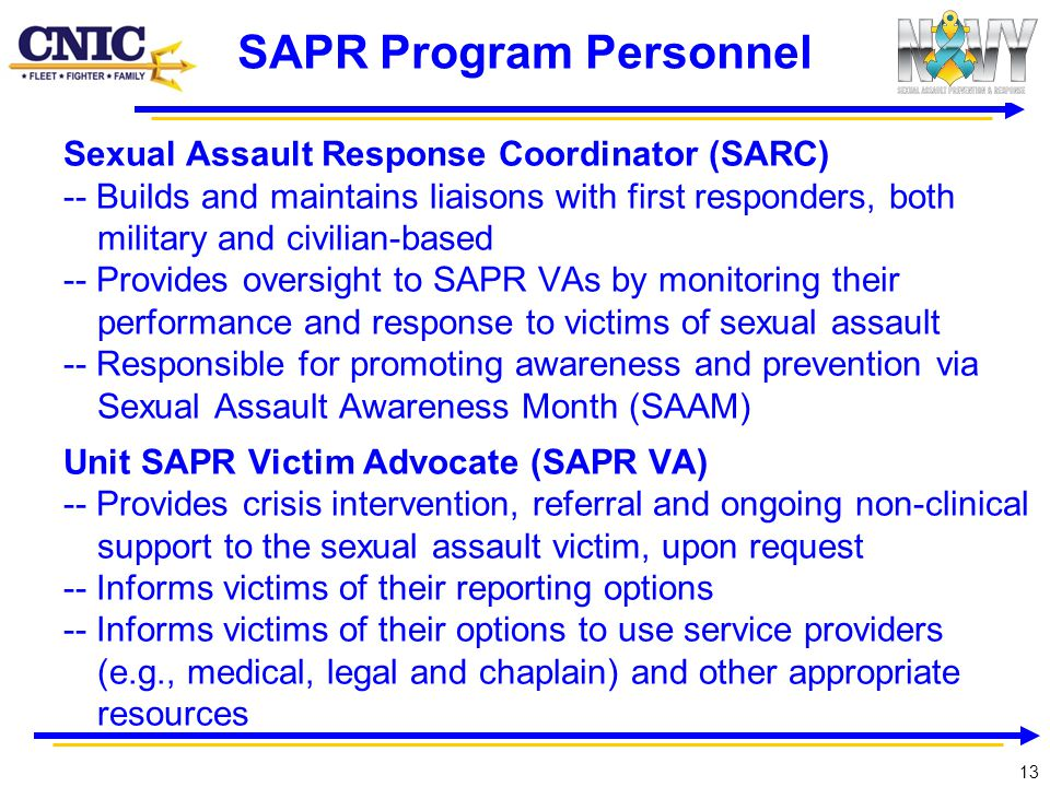 SAPR Program Personnel