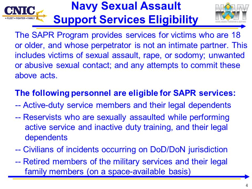 Navy Sexual Assault Support Services Eligibility