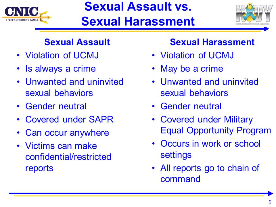 Sexual Assault vs. Sexual Harassment