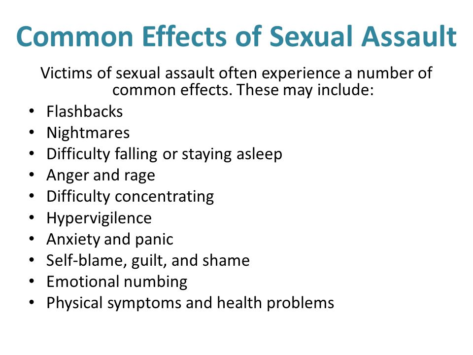 Common Effects of Sexual Assault