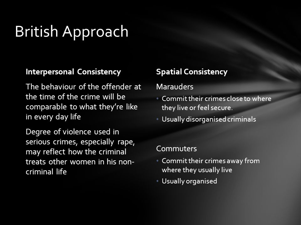 British Approach Interpersonal Consistency